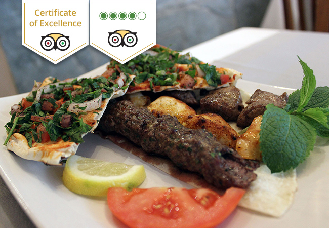 Lebanese at Le Diwane: CHF 100 Credit