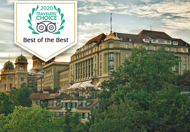 Bern Bellevue Palace 5* Hotel: 1 Night + Breakfast for 2