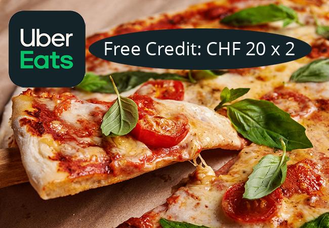 Free: CHF 20 Off Your First 2 Orders with Uber Eats