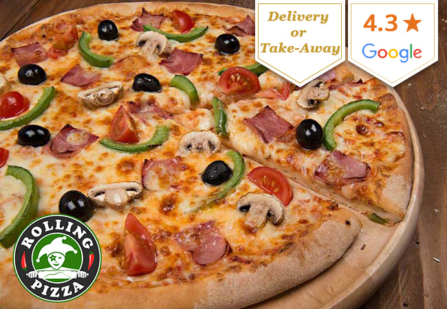 Pizza Delivery at Rolling Pizza: CHF 60 Credit