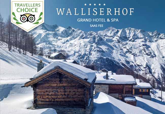 Saas-Fee: 2-Nights with Half-Board at Walliserhof 5* Grand-Hotel & Spa