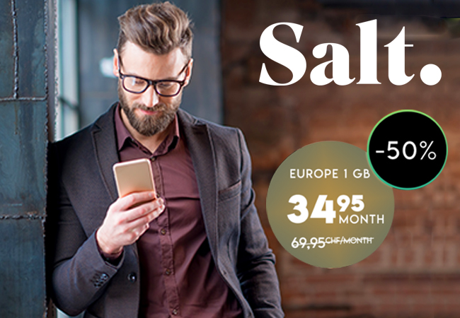 Salt 'Europe 1GB' Mobile Subscription for 24 Months