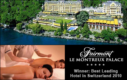 CHF 359 instead of 720 for a Luxury Stay at the 5 Star Fairmont Montreux Palace Hotel: voted Switzerland's Best Leading Hotel 2010. 1 night for 2 people in lake-view room, free access to Spa + Pool + Fitness, Breakfast, 10% off Spa treatments Photo
