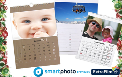 CHF 13 instead of CHF 26.95 for Personalised Calendar / Agenda at smartphoto.ch, incl delivery anywhere in Switzerland. Delivery possible by December 19 2011    Photo