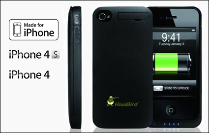 Double your iPhone 4 / 4s battery life with Kiwibird FC8 ® ultra-light (53g... Image