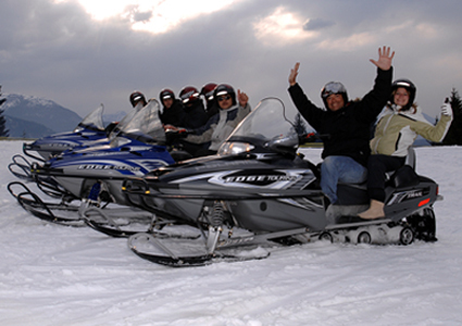 Discover Les Carroz on a Snowmobile:  