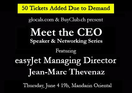 "glocals ""Meet the CEO"" event featuring Easyjet's Managing Director, June 4"