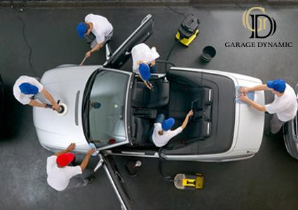 Car wash by hand exterior interior at garage dynamic - Professional car interior cleaning ...