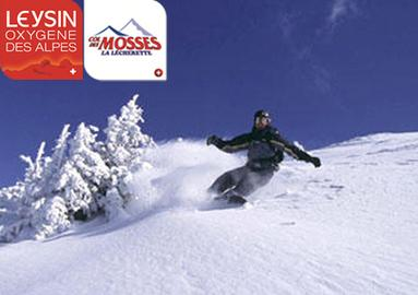 Full day ski pass to Leysin