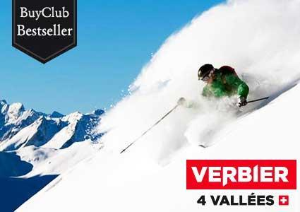VERBIER full-day ski pass valid 7/7 all season. Max 4 per person