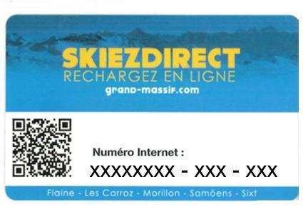 Rechargable Ski-Card (Empty) for Le Grand Massif