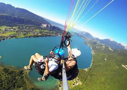Tandem Paragliding Over Annecy