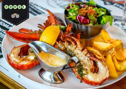 Just Opened: Lobster at Entre Homard & Cote (3-course Dinner for 2 People)
