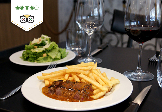 Entrecote Dinner for 2 at Wine & Beef