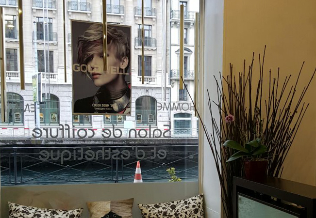 4.8 Stars on Facebook Pause Urbaine Hair Salon in Geneva Center:    Cut & Treatment 110 CHF 55  Keratin Smoothing: 350  CHF 169  Men's Cut: 42 CHF 29   Add CHF 60 for Highlights or Color  Photo