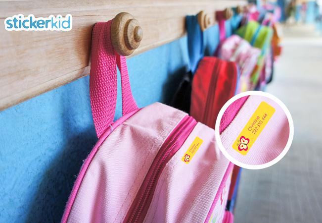 Back to School: Personalized name stickers for your child's belongings (Shipping Included)