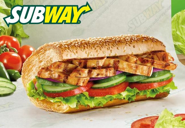 2 Sandwich Menus at SUBWAY (Geneva & Lausanne)