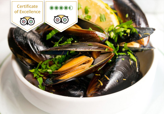Mussels & French Cuisine at Kudeta Carouge (4.5 Stars Tripadvisor)