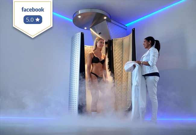 5 Stars on Facebook Cryotherapy at Swiss Cryotherapy Center (Eaux Vives): 2 or 5 Sessions Flash exposure to sub-zero temperatures to jump-start metabolism, relieve muscle pain & increase energy  Photo