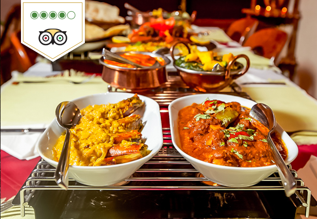Indian at Sajna (4 Stars on Tripadvisor)
