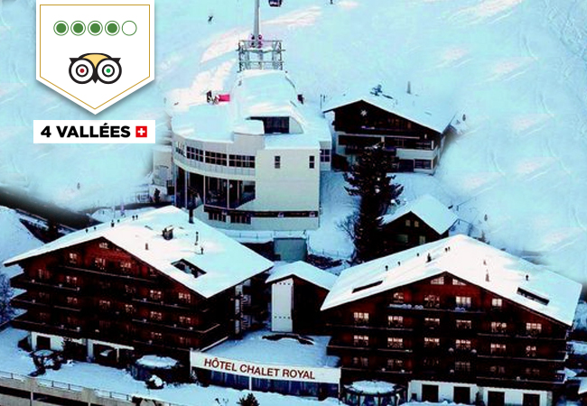 Ski Vacation in 4 Vallées: Hotel Chalet Royal (2 Nights for 2 People)