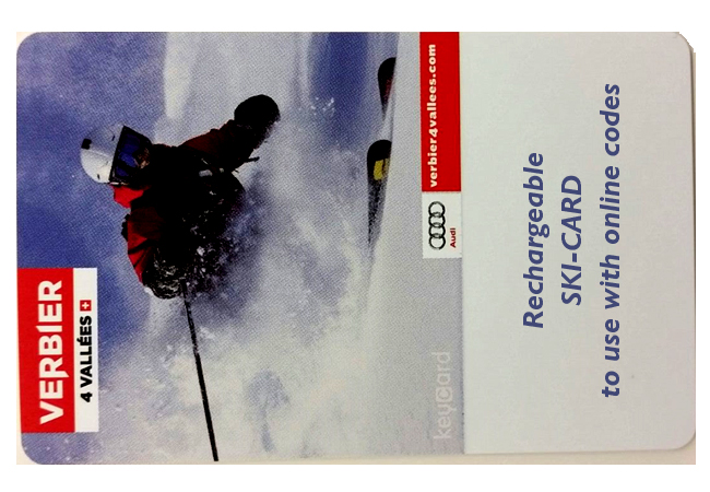Rechargable Ski-Card (Empty) for Verbier. Estimated Delivery: Jan 26 2018