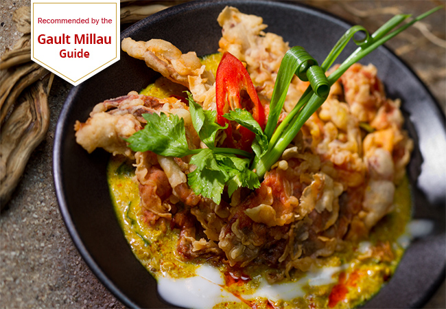 """Delicious Thai cuisine bursting with flavours"" - Tribune de Geneve