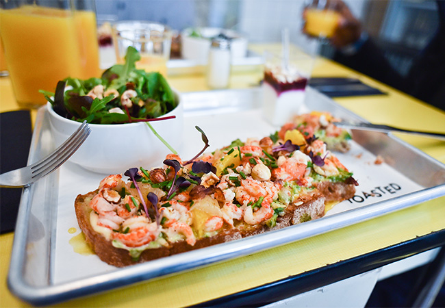 Just Opened, 4.5 stars on TripAdvisor  Re-invented French Tartines with a Twist at TOASTED (Plainpalais)  Pay CHF 36 for CHF 60 credit towards any food & drink  Photo