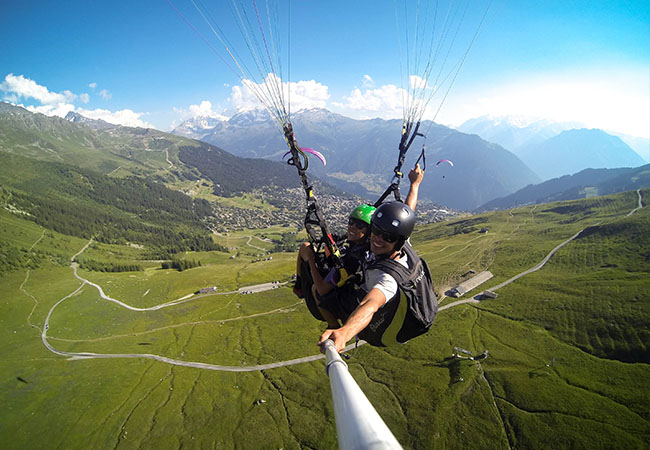 """""""Wonderful experience with Verbier Summits"""" -Richard Branson Tandem Paragliding Over Amazing Verbier, incl Video & Photos of Your Flight, with Verbier Summits  Rated 5 stars on Tripadvisor & Facebook  Photo"""