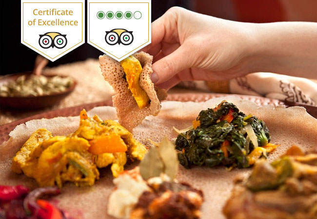 Ethiopian Cuisine at Gazelle d'Or (TripAdvisor Certificate of Excellence)