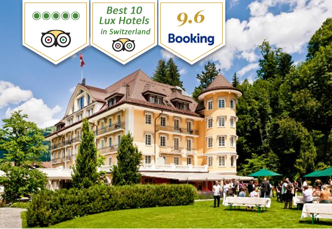 Grand Bellevue Gstaad Hotel: Overnight Stay + Michelin-Star Dinner for 2