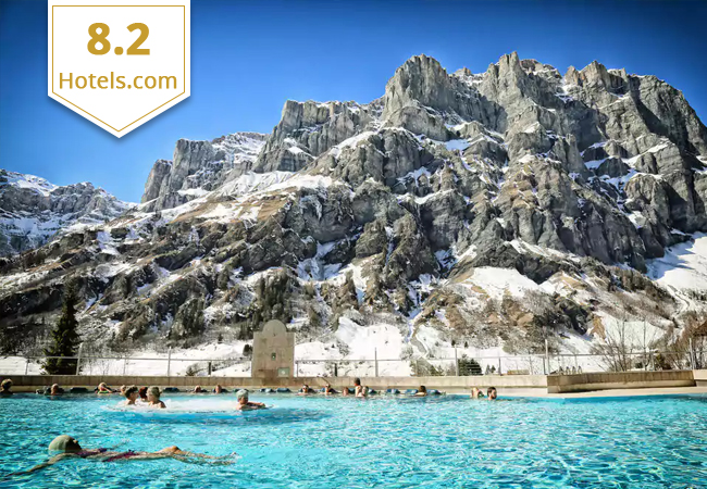 Leukerbad:  Thermalhotel & Spa Resort + Alpentherme Access (2 Night for 2 People)