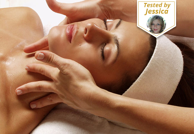 """Tested & Approved by BuyClub's Independent Tester  Guinot® Anti-Aging Facial at 2rue des Lilas Beauty Institute (Servette)  Guinot's """"Age Summum"""" premium facial regenerates, firms & restores the skin's radiance   Photo"""