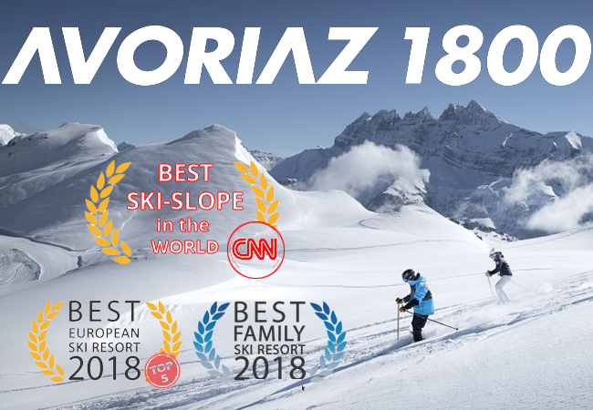 AVORIAZ Full-Day Ski Pass Valid Any Day 7/7 All Season. 