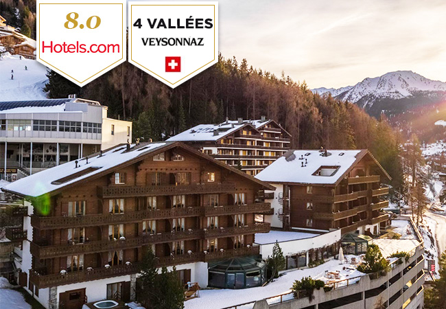 4 Vallées: Hotel Chalet Royal Veysonnaz (2 nights for 2 people)