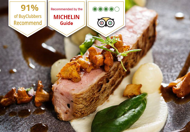 Michelin Guide Selection, Recommended by 91% of BuyClubbers  Refined Mediterranean Cuisine at Collonge Café (Bellerive): CHF 120 Open Credit  Valid Tue-Sat Dinner & Tue-Sun Lunch  Photo