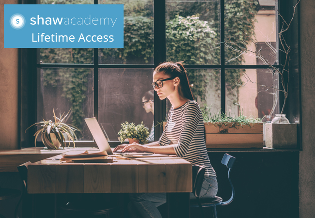 World's Largest Online Trainer Unlimited Life-Time Access to All Online Courses by Shaw Academy, incl:• Digital Marketing   • Nutrition • Photography  • Trading   Web Design     • Finance • Graphic Design • Web Dev   • More   Photo