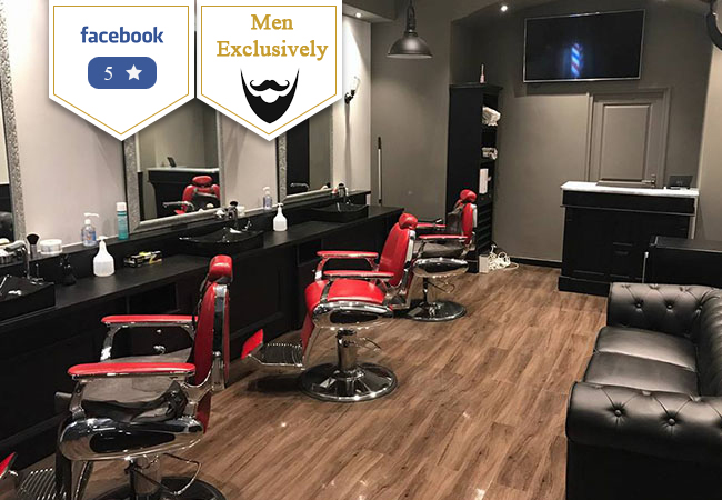 5 Stars on Facebook  Men's Exclusive: Haircut + Old Fashioned Beard Shave / Trim at Barber Concept (Chantepoulet)   2 beard shaves/trims + 2 haircuts: 100 CHF 59 3 beard trims/shaves: 60 CHF 35   Photo