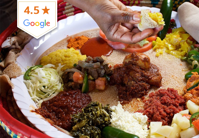 Ethiopian at Nyala Barka (4.5 Stars on Google)