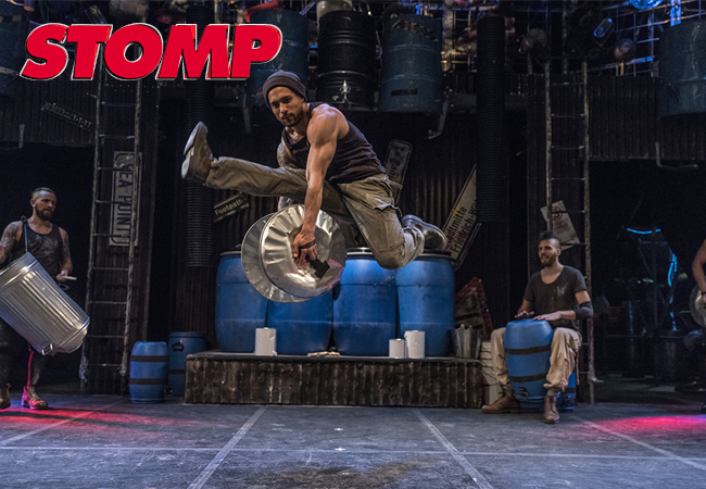 """""""Exuberant explosive joy!"""" - New York Times  STOMP Hit Show: March 12-13-14 at Théâtre de Beaulieu  One of the world's most successful shows features an explosive mix of percussion on objects you never imagined, dance & humour  Photo"""