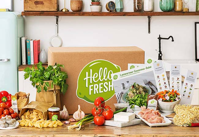 Ready-to-Cook Meal Kits with Free Delivery by Hello Fresh