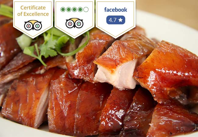 20 Vouchers Added  3-Service Chinese Peking Duck for 2 at La Baguette d'Or (Plainpalais): Tripadvisor Certificate of Excellence  Valid 7/7 Dinner & Lunch  Photo