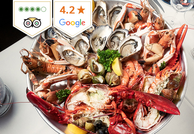 Unlimited Seafood Buffet for 2 at La Certitude (4 Stars on TripAdvisor)