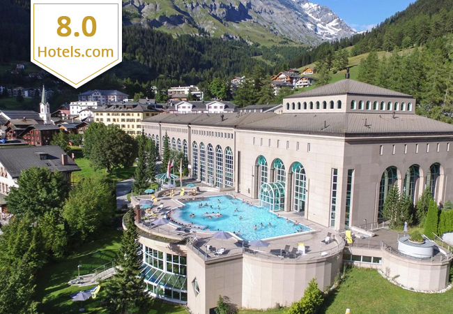 Leukerbad:  Thermalhotel & Spa Resort + Alpentherme Access (2 Nights for 2 People)