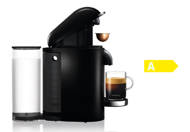 Nespresso VertuoPlus Deluxe Black Coffee Machine, plus:​