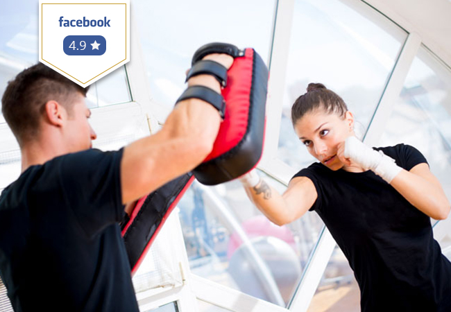 4.9 Stars on Facebook 10 Martial Arts and/or Fitness Classes at DFC Sports Club  30 Classes/ week to choose from: Thai Boxing, English Boxing, Tae Bo, Cross Training & more  Photo
