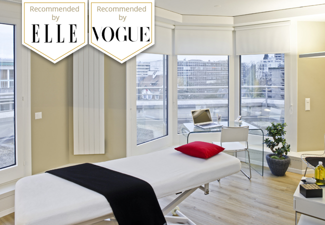 """""""Martine de Richeville is a must for slimming"""" - ELLE Body Shaping ('Remodelage') Massage at Institut Martine de Richeville in Champel  This unique method - praised by ELLE, VOUGE & more - smoothes cellulite & helps release toxins for a visibly slimmer silhouette  Photo"""