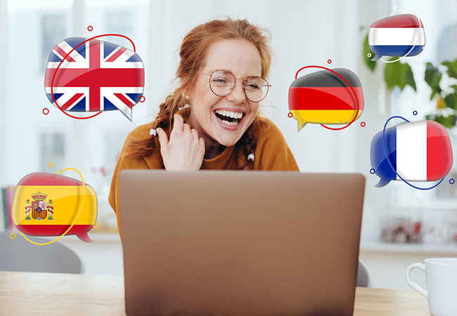 Online Language Courses (French, German, Spanish, Dutch, English) with Captain Language   6 months: 290 CHF 79 12 months: 530 CHF 99 24 months  + 6 months free bonus: 995 CHF 139   Photo
