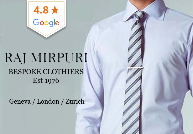 Bespoke Tailor-made Dress Shirts by Raj Mirpuri
