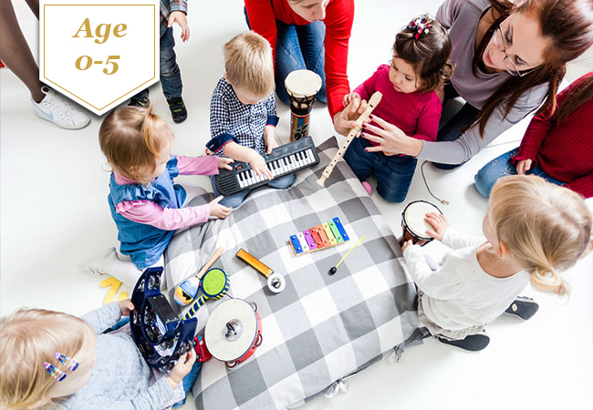 Ages 0-5: 10 x MusicTogether® Classes (starting Oct 2020)